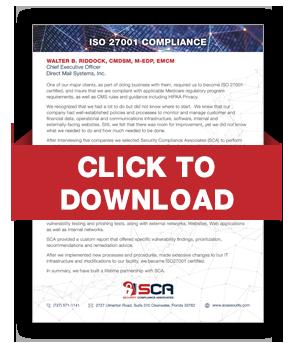 Thank You - Security Compliance Associates - SCA - (727) 571